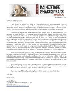 Mainestage Shakespeare