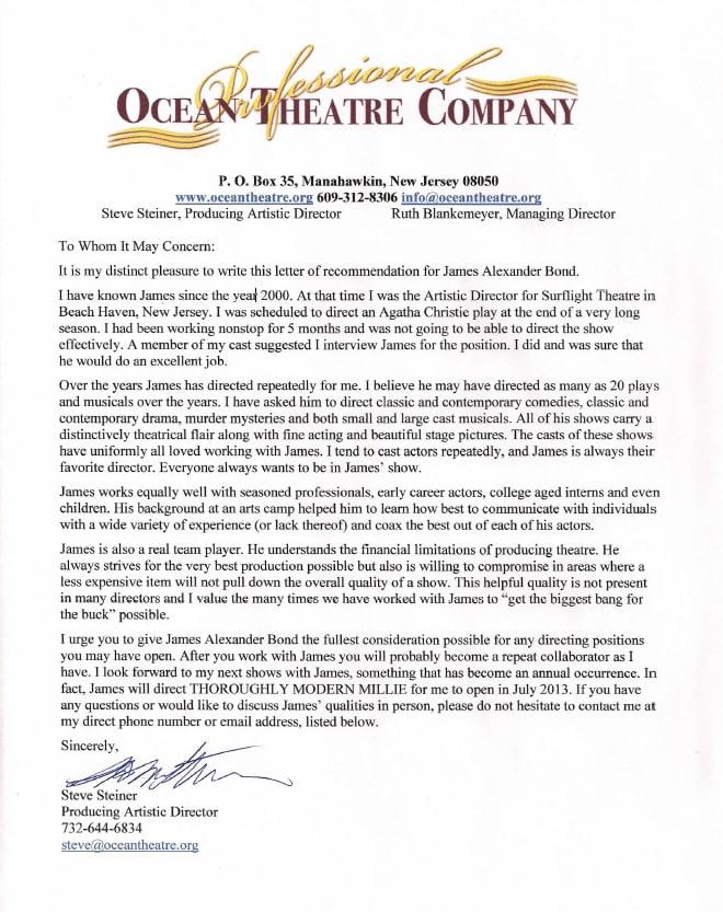 Steve Steiner, Producing Artistic Director, Ocean Theatre Company
